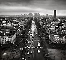 Paris cityscape by Kostas Pavlis
