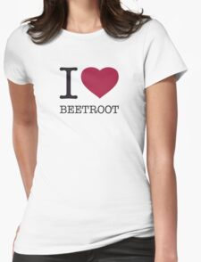 I ♥ BEETROOT Womens Fitted T-Shirt