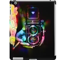 psychedelic vintage film camera iPad Case/Skin