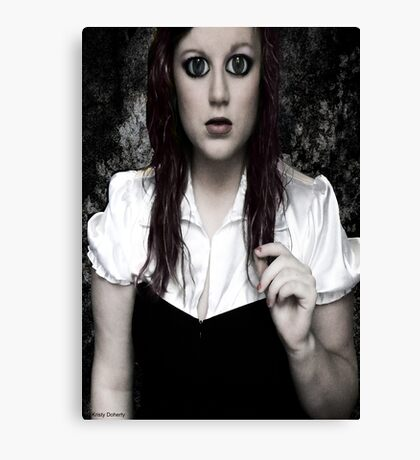 goth doll Canvas Print
