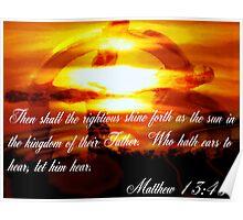 Matthew 13:43 Poster