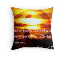 Matthew 13:43 Throw Pillow