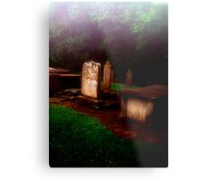 Headstones in the MIst Metal Print