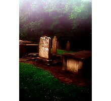 Headstones in the MIst Photographic Print