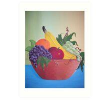 Still life fruit bowl Art Print
