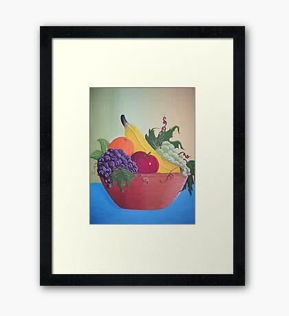 Still life fruit bowl Framed Print
