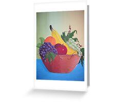 Still life fruit bowl Greeting Card