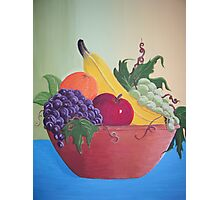 Still life fruit bowl Photographic Print