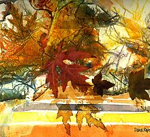 Collage with Autumn Leaves by Dana Roper