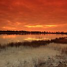 Dawn on the lake by kathy s gillentine