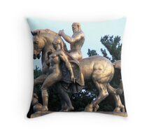 Golden Warrior  Throw Pillow