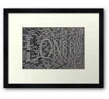 Loan Pine Framed Print