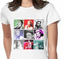 Grace Kelly Collage Womens Fitted T-Shirt