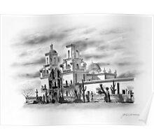 San Xavier Mission, Tucson, Az. Poster
