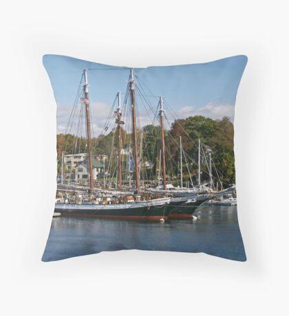 Camden Harbor Schooners Throw Pillow