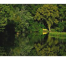 Yellow Paddleboat Photographic Print