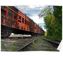 """The Siding Track At Bartlett"" - Conway Scenic RR Series - © 2009 featured Poster"