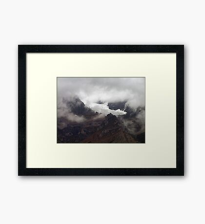 Rock,Ice and Storm Framed Print