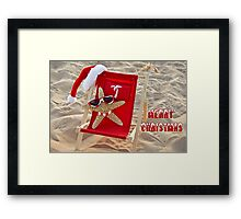 Seashore Santa Framed Print