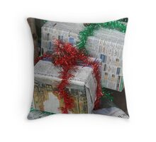 Sustainable giving Throw Pillow
