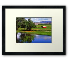 Nevada Farmlands Framed Print