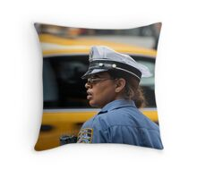 Traffic Cop Throw Pillow