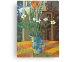 still life and the sculpture cupboard Canvas Print