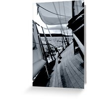 Starboard Tack  Greeting Card