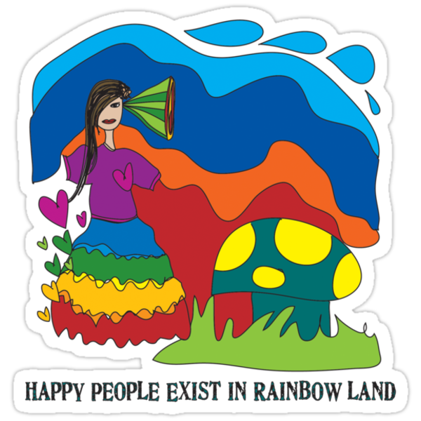 Happy People Exist in Rainbow Land by Nadine Staaf