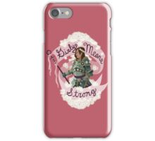 Girly Means Strong, (red variants) iPhone Case/Skin