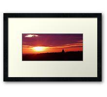 Lancaster Sunset Framed Print