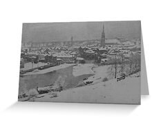 A Snowy Drogheda At The Turn Of The Century Greeting Card
