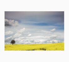 Big Sky and Yellow Field One Piece - Long Sleeve