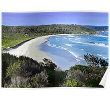 Caves Beach looking north. Poster