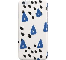 Blue & Black Abstract iPhone Case/Skin