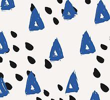 Blue & Black Abstract by Iveta Angelova