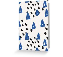 Blue & Black Abstract Greeting Card