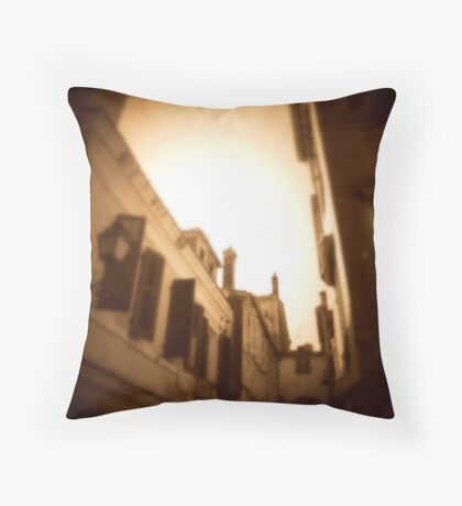 The lanes of old Corfu Town Throw Pillow