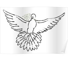 Simple Dove Poster