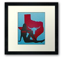 Batgirl over Texas Framed Print