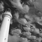 Split Point LIghthouse 2 B&W by Heather Davies
