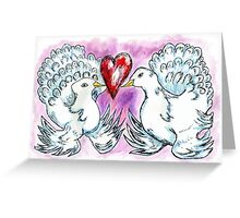 Doves and Heart Greeting Card