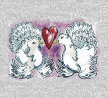 Doves and Heart Baby Tee