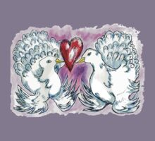 Doves and Heart Kids Tee