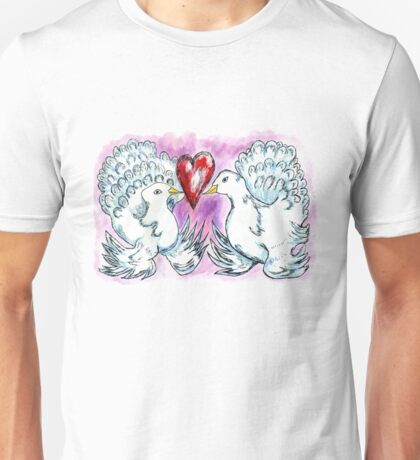 Doves and Heart Unisex T-Shirt