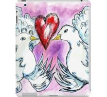 Doves and Heart iPad Case/Skin