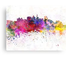 Durban skyline in watercolor background Canvas Print