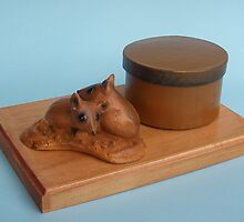 Fat Tailed Dunnarts desk tidy by Alex Gardiner