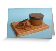 Fat Tailed Dunnarts desk tidy Greeting Card