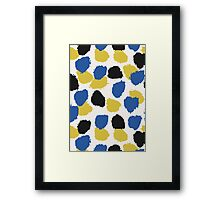 Blue, Yellow & Black Abstract Framed Print